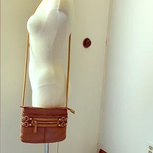 Etienne Aigner Bags - ETIENNE AIGNER Small Nutmeg Brown Crossbody Bag